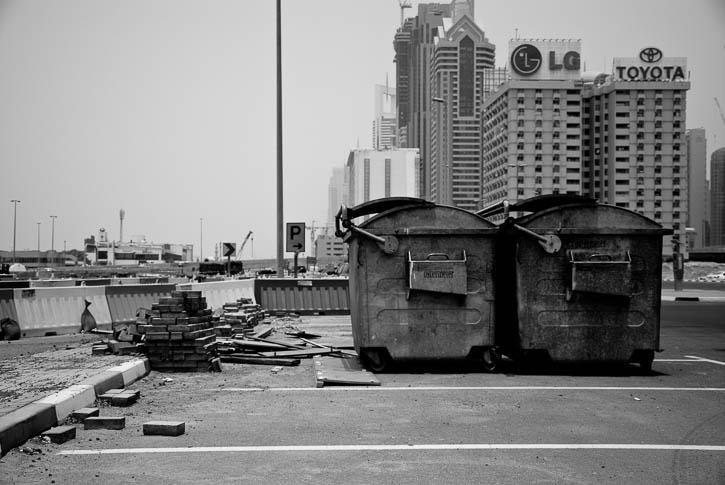 Schwarz-weiße Dystopie